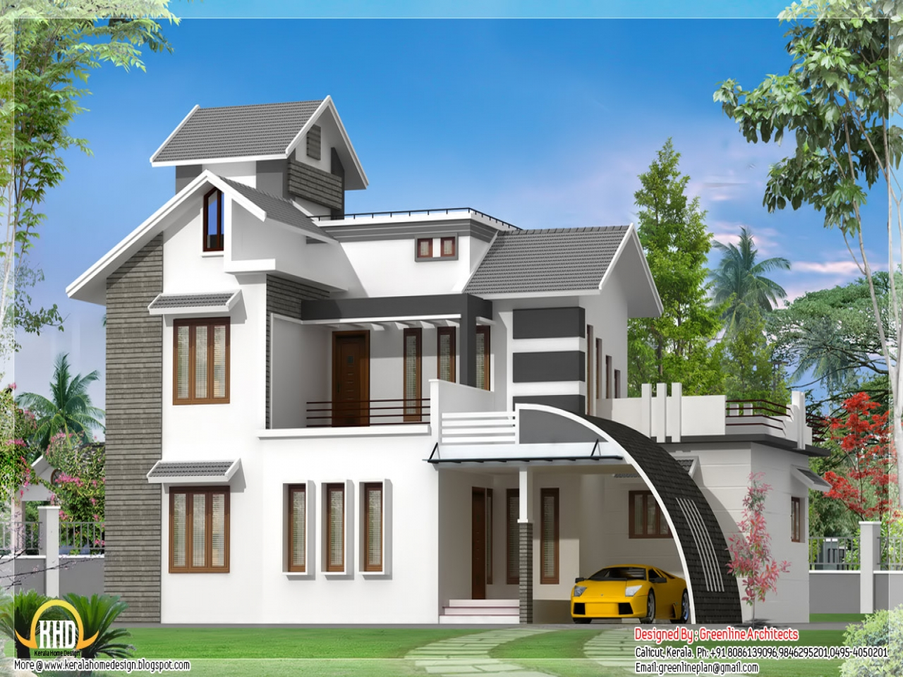 Indian style house design view front house designs house for Home front design indian style