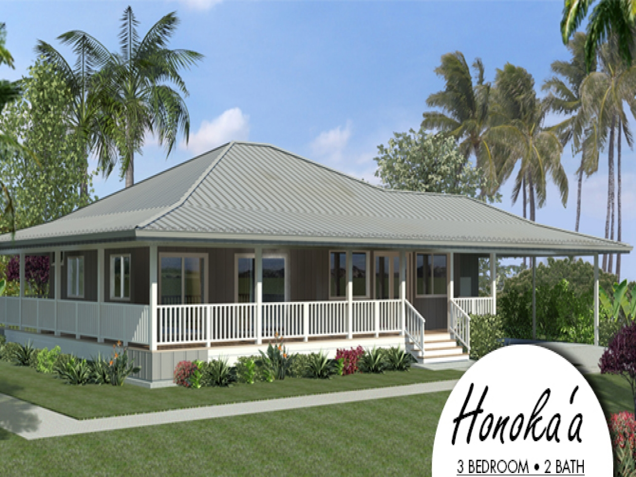 Island style house plans hawaiian plantation style house for Hawaiian style home plans