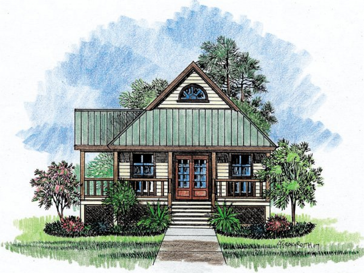 Louisiana House Plans Dog Trot Louisiana Acadian Style