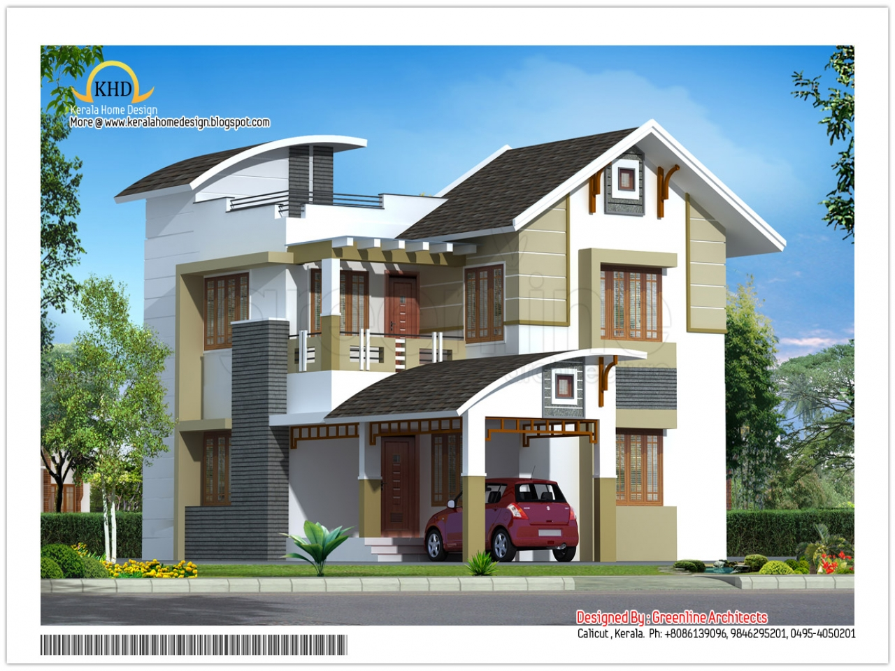 Modern house elevation designs modern classical for Free contemporary house plans