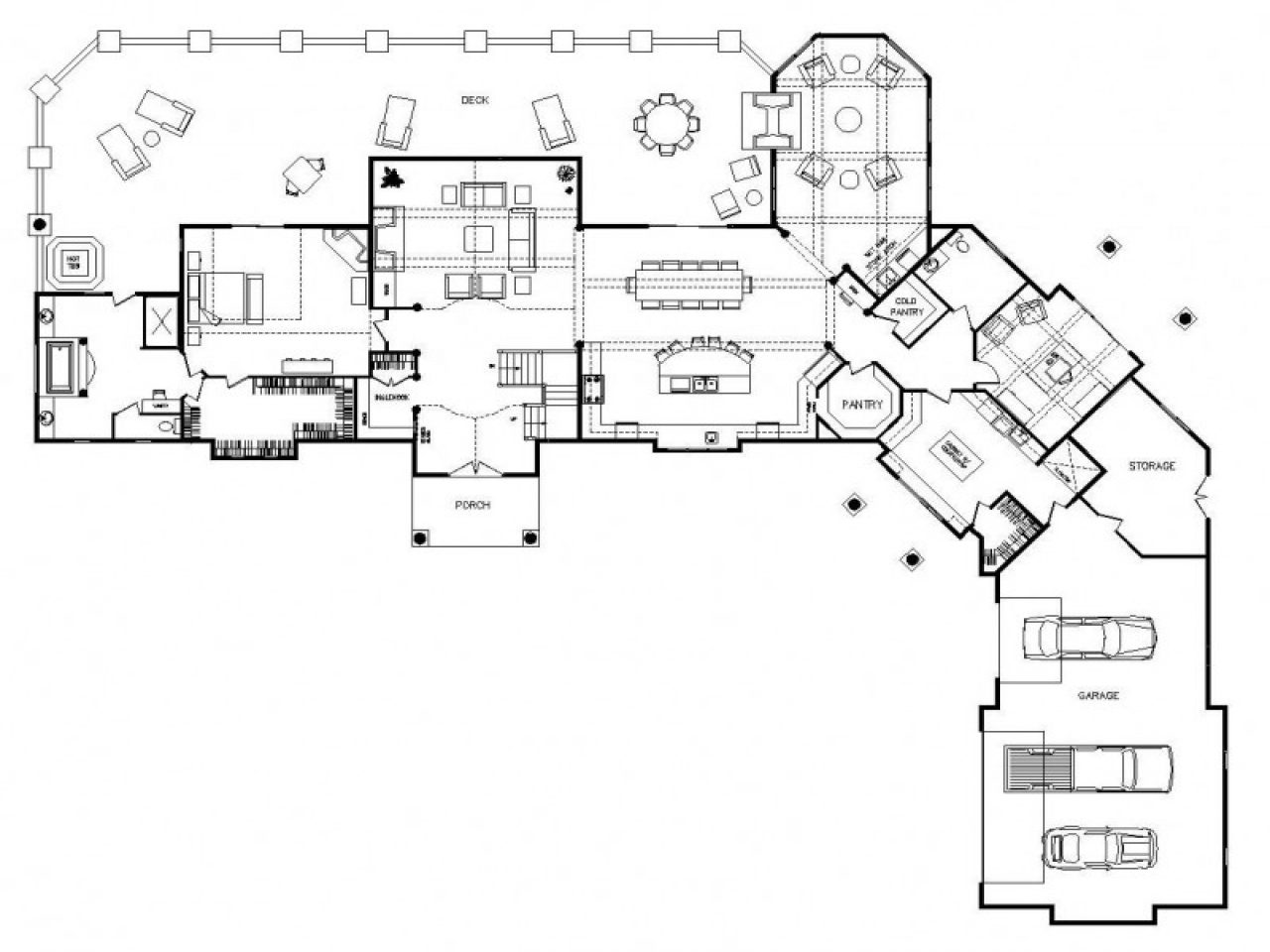 One story log home floor plans one story log home interior for One story house plans with interior photos