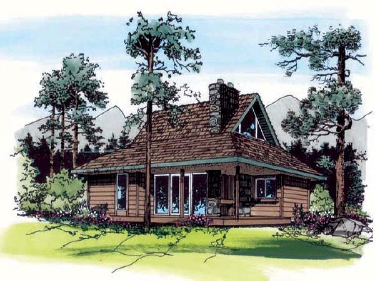 Rustic cabin house plans simple rustic cabin plans small for Simple rustic house plans