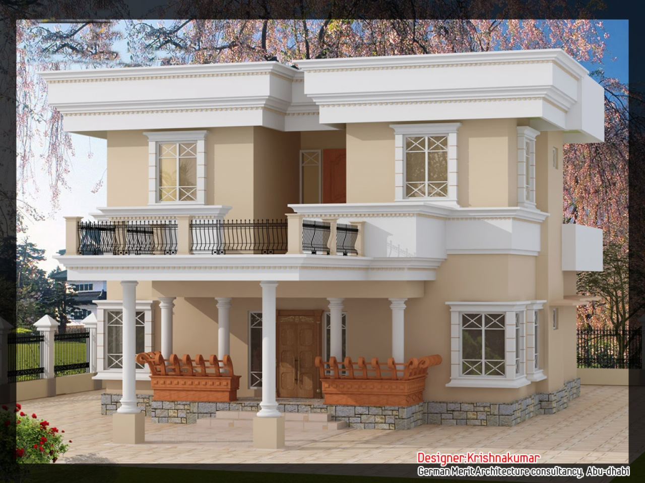 Simple house elevations elevation house 2d simple house for Minimalist house elevations