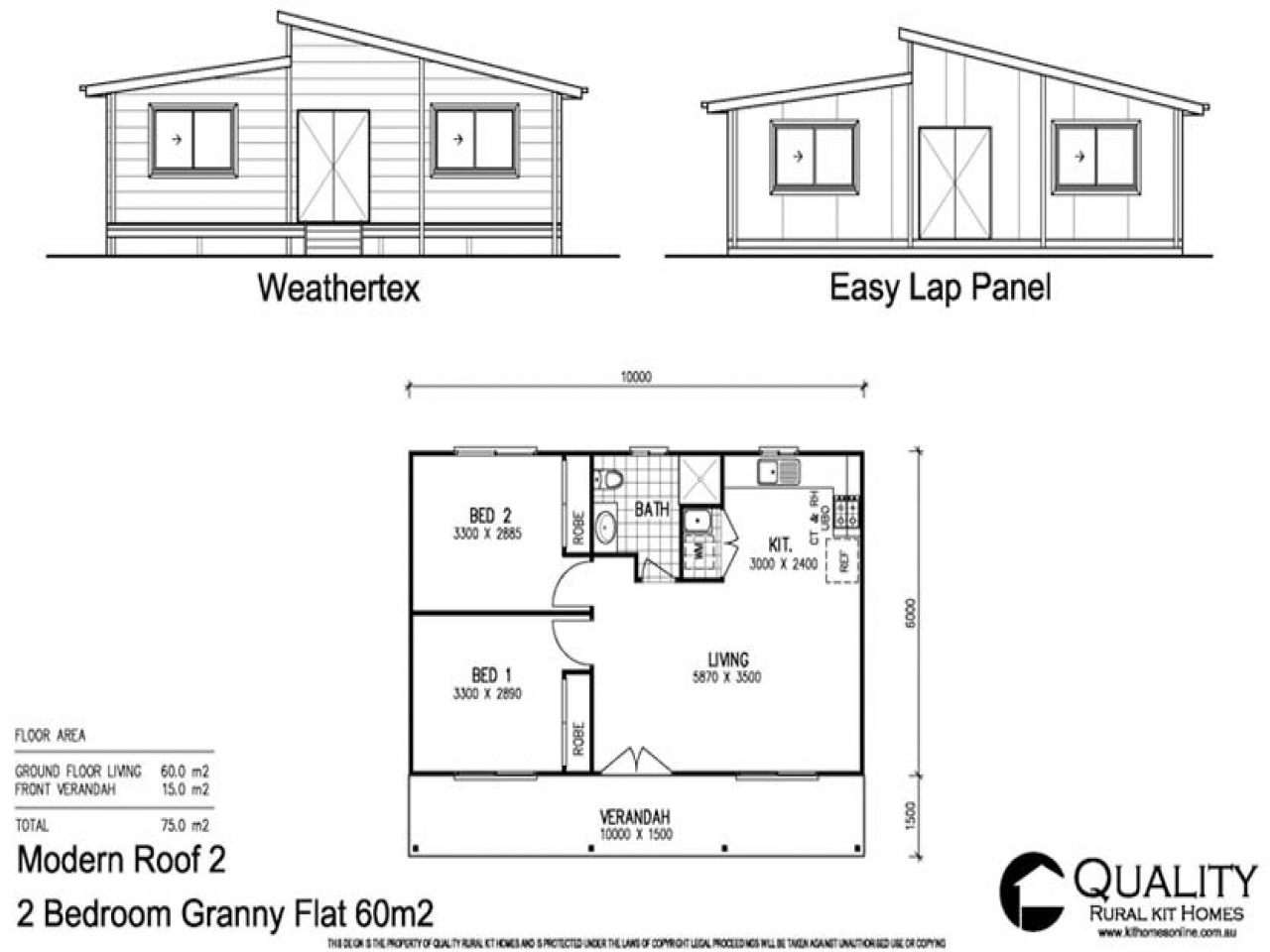 The Rose Cottage 2 Bedroom Granny Flat Kit Home Quality