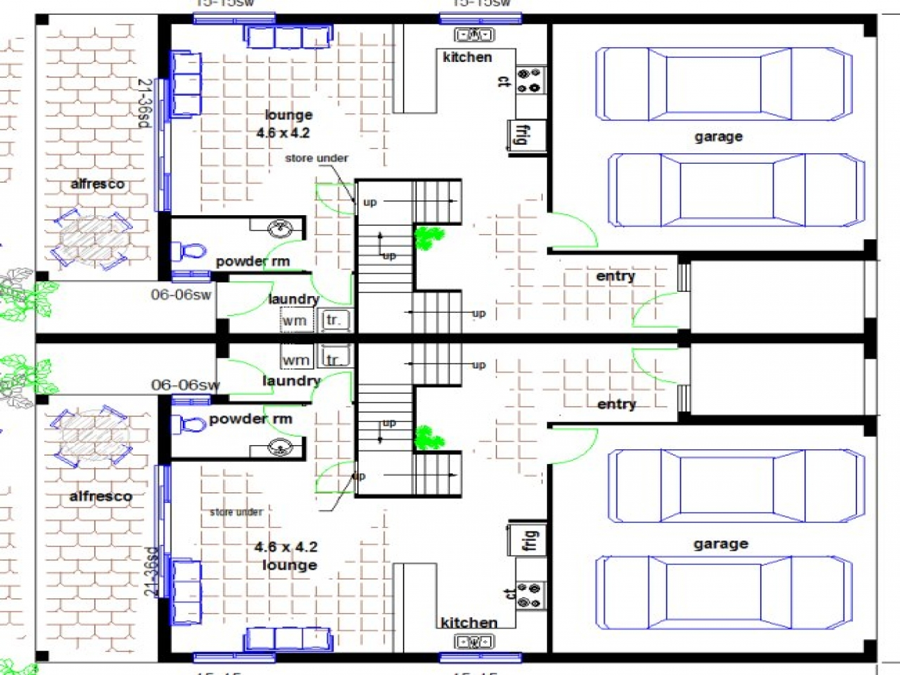 Townhouse floor plans with garage townhouse floor plans for Victorian townhouse plans