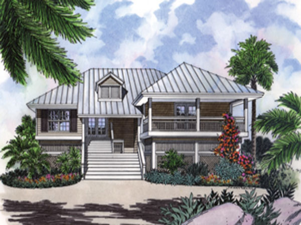 Beach key west style house plans key west beach cam key for Key west style metal roof