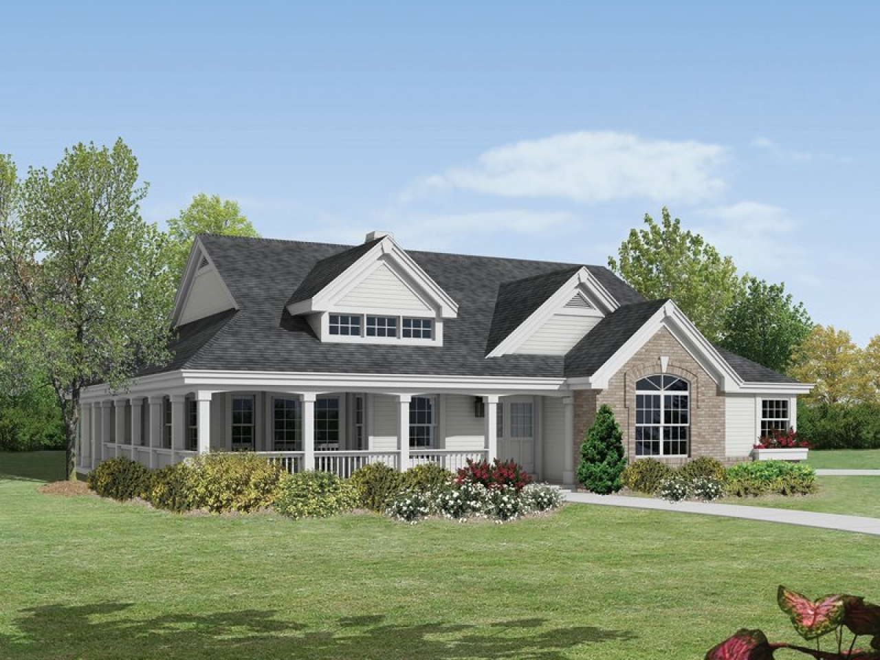Ranch Style House Plans With Wrap Around Porch Bungalow House Plans With Porches Bungalow House Plans