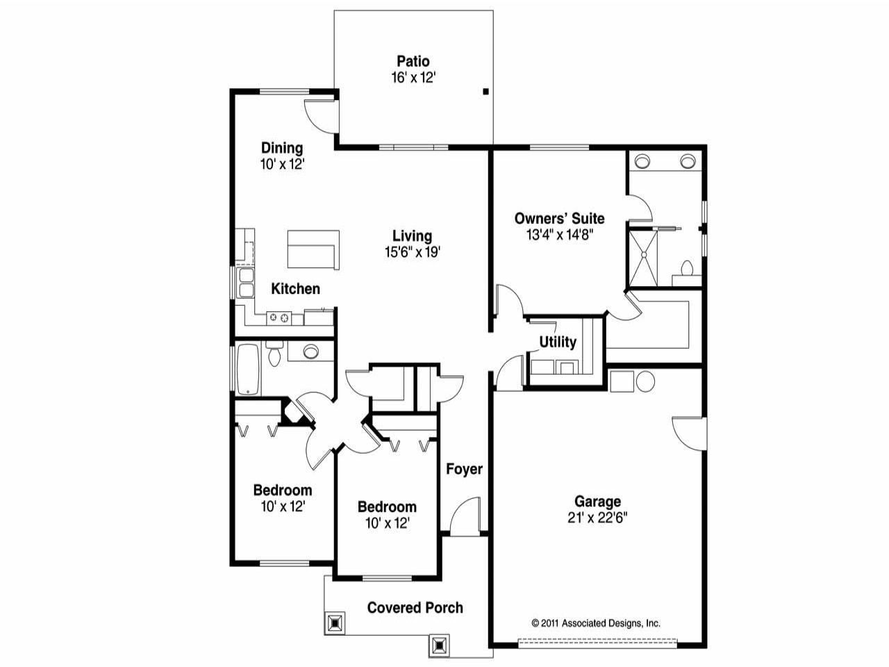 Craftsman house floor plans new craftsman floor plans for Craftsman style open floor plans