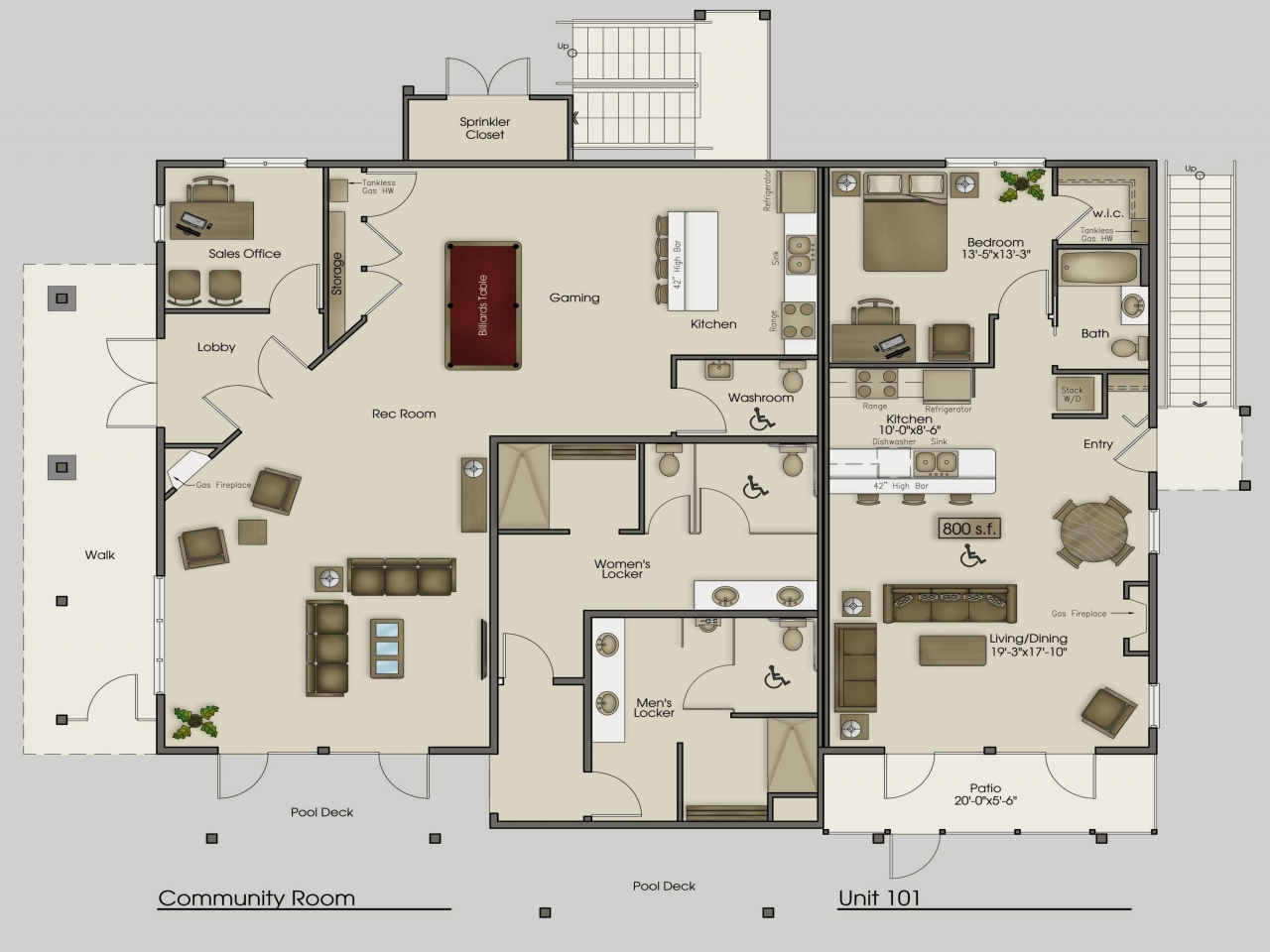 KitchenFloorPlansLayoutsUShapedKitchenFloorPlans