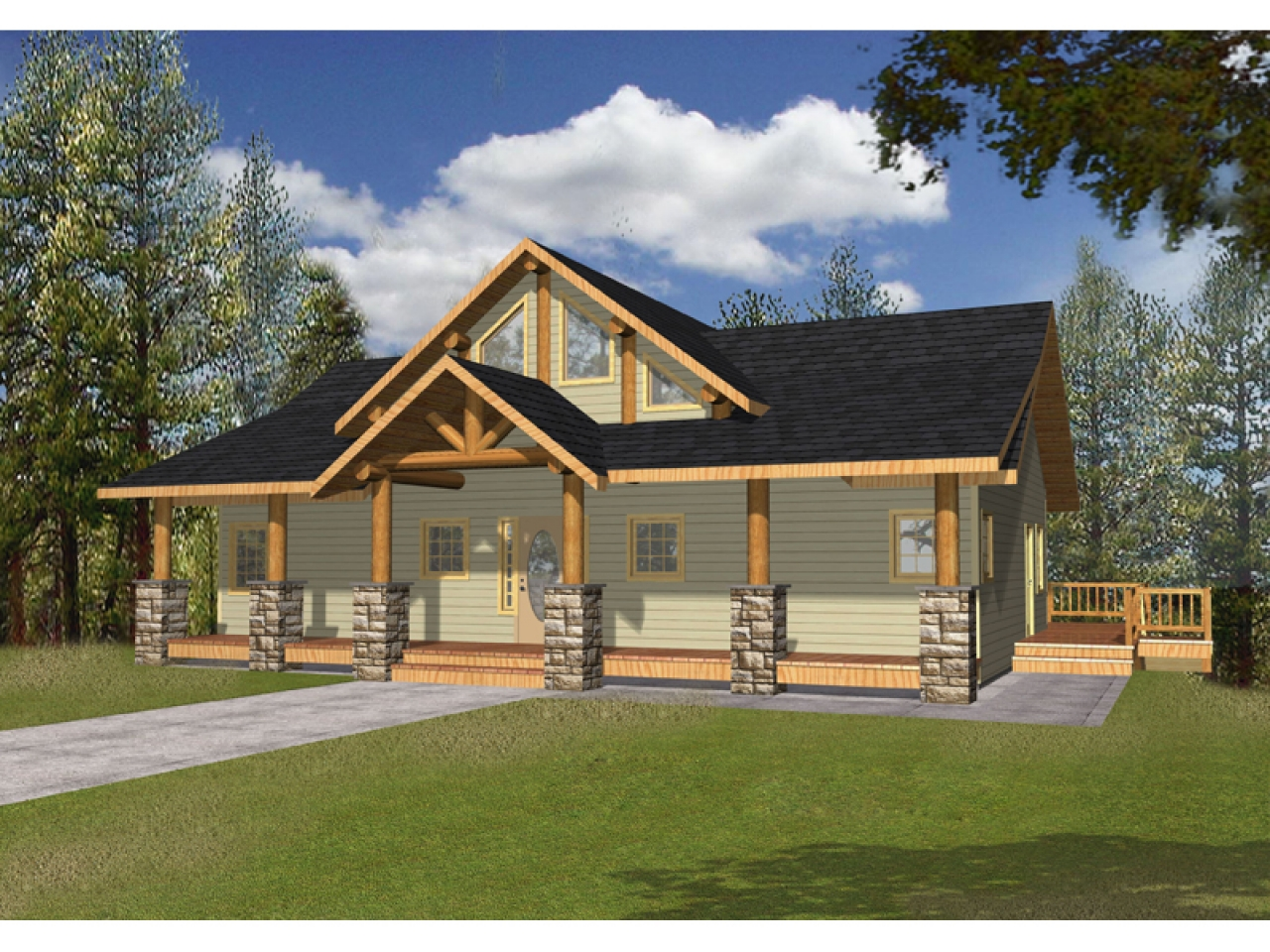 4 Bedroom House Plans Open Floor Farmhouse Craftsman Style