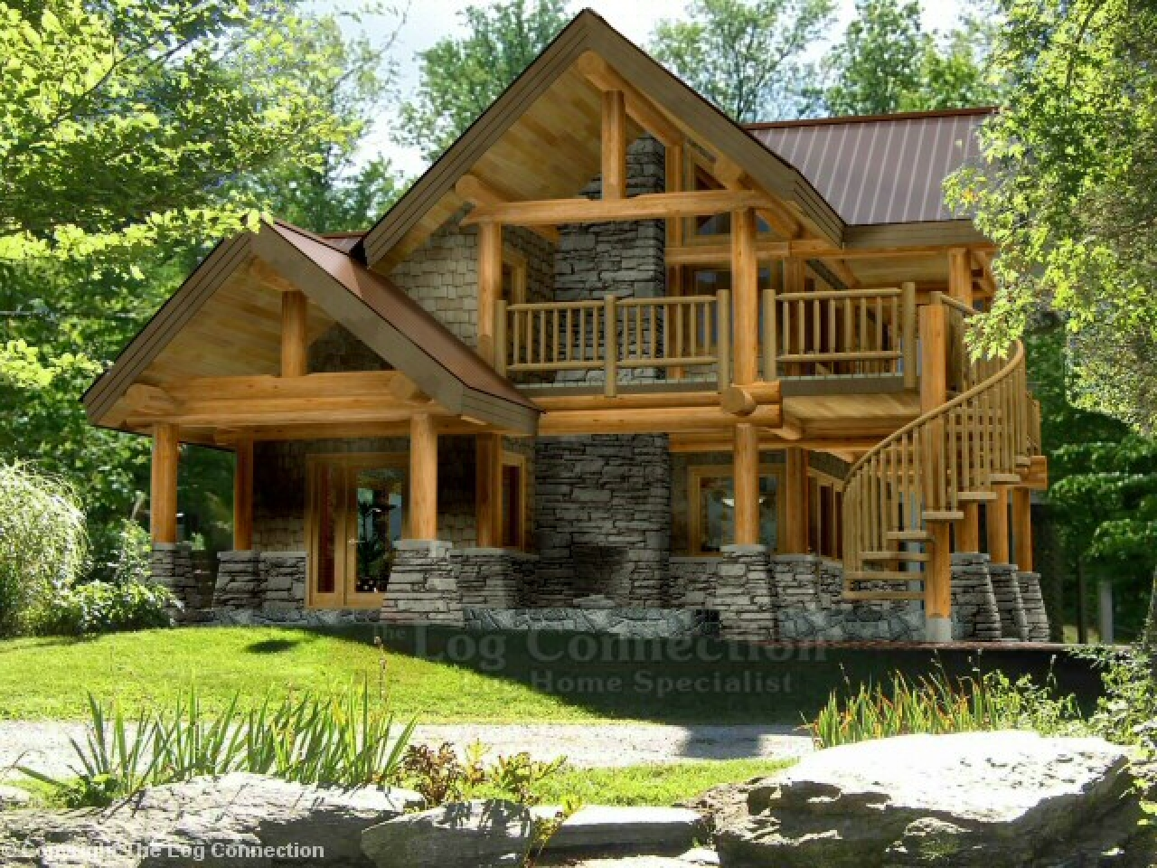 Log home kitchen designs log home designs and prices for Log home plans pricing