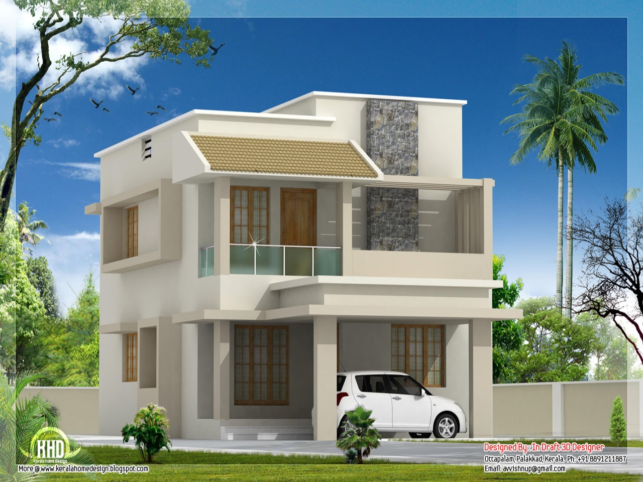 Modern house exterior modern villa design plan small for Modern house villa design