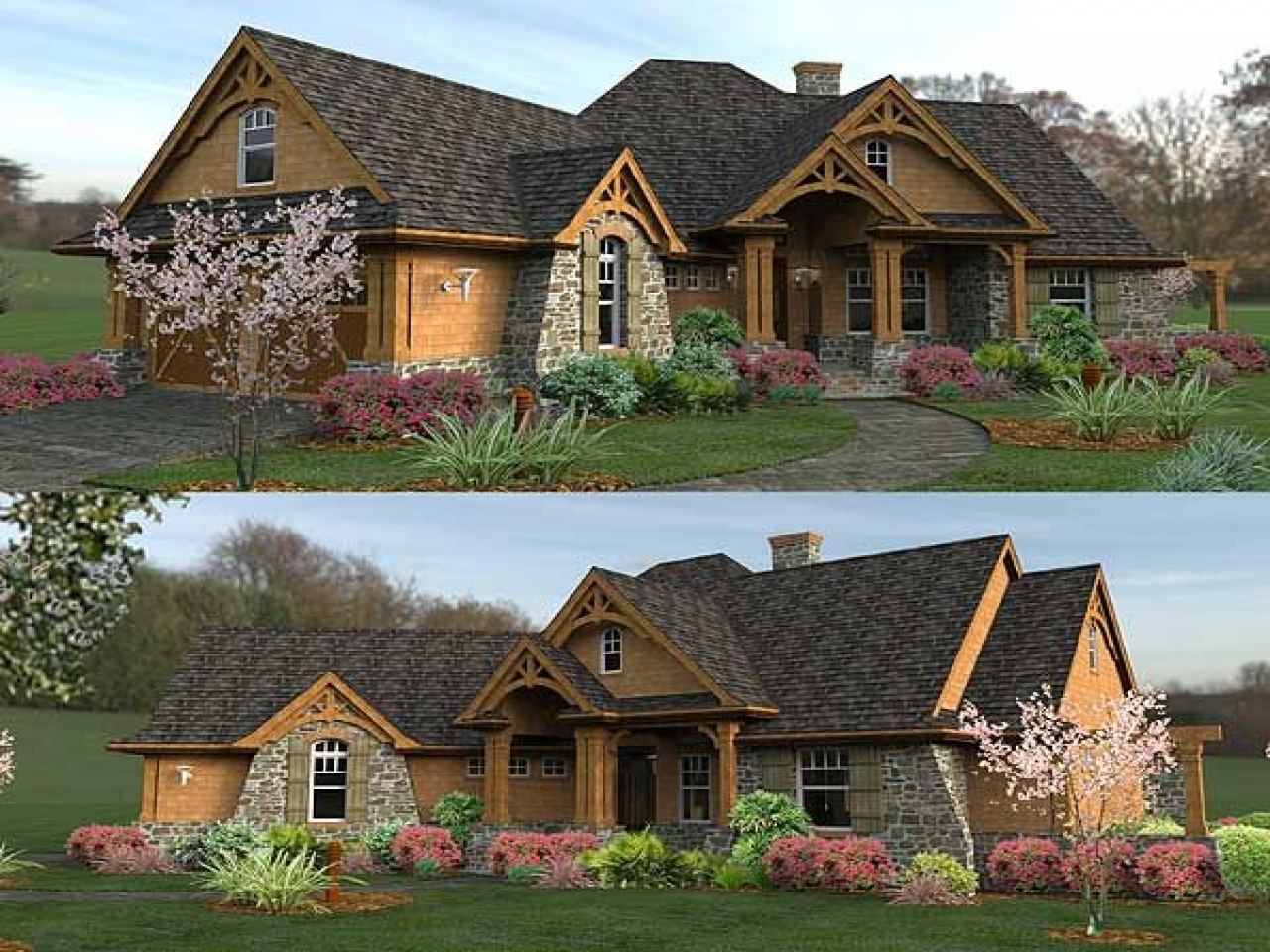 Mountain ranch style home plans luxury ranch style home for Executive ranch homes