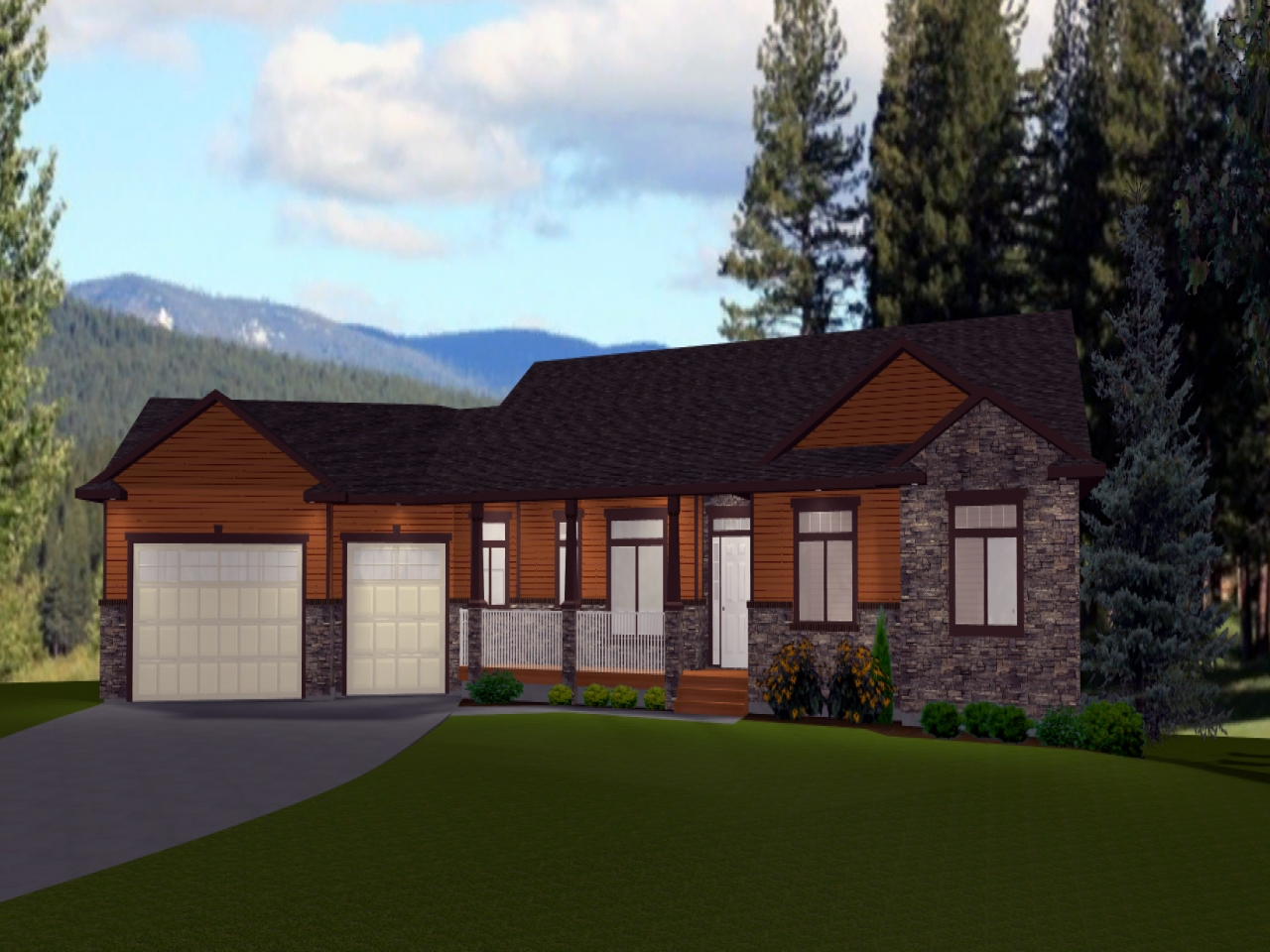Rectangular house plans ranch style ranch style house - What is a ranch style home ...