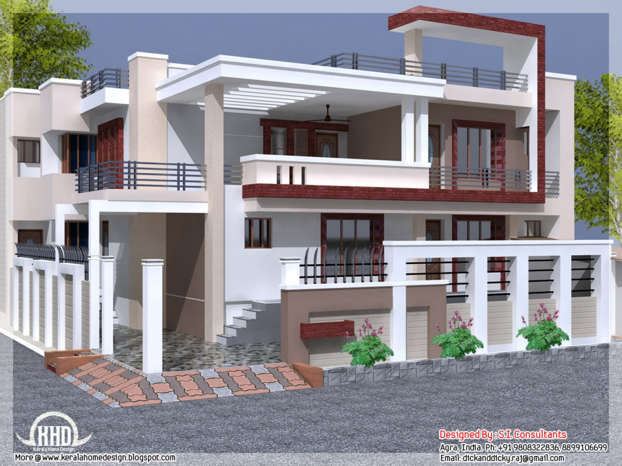 Single Floor House Designs in Bangalore India Indian House ...