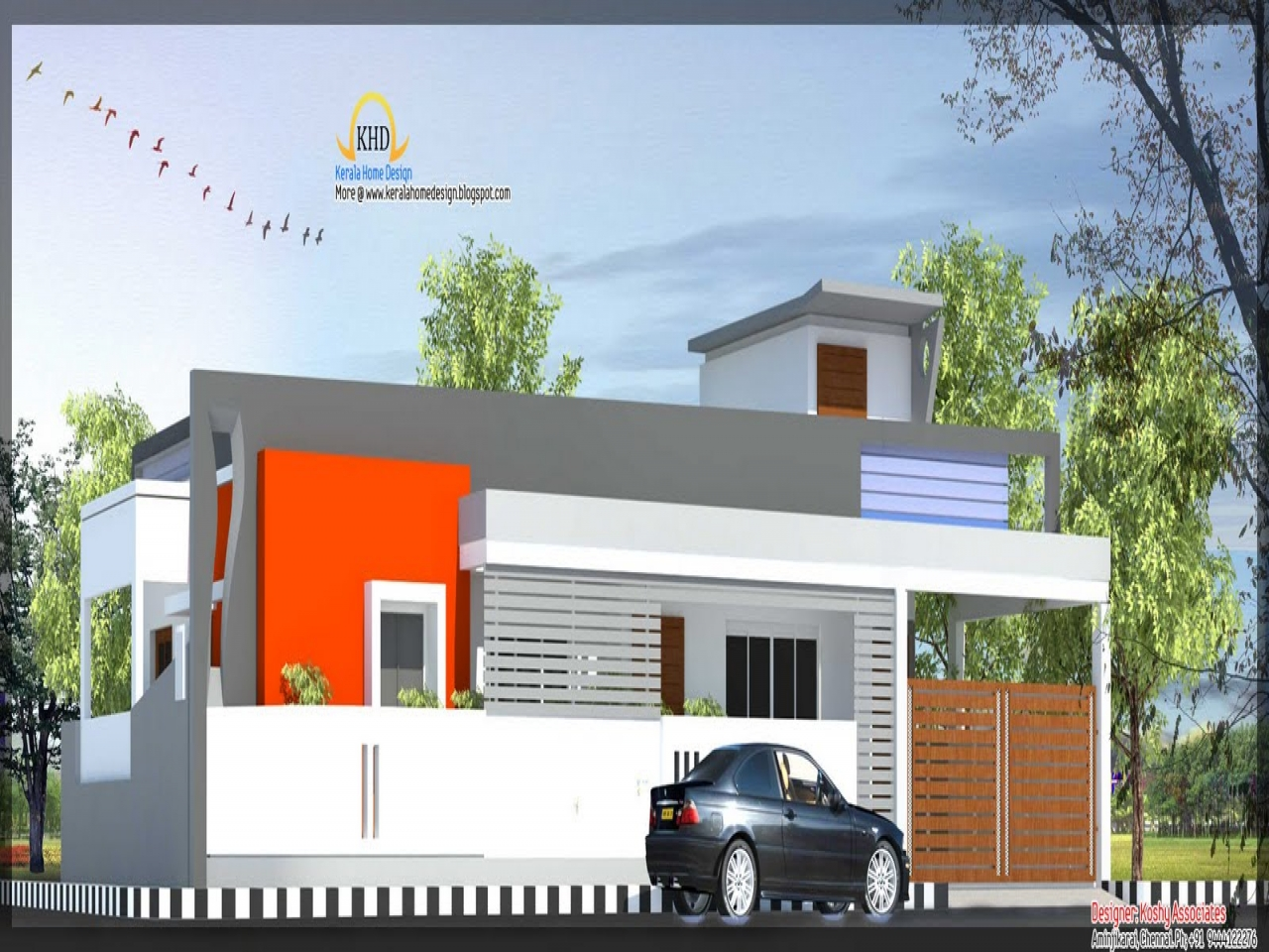 single floor house elevation front elevation indian home lrg ec2fc2a1cec85e6f - 44+ Front Design Of Small House Ground Floor  Gif
