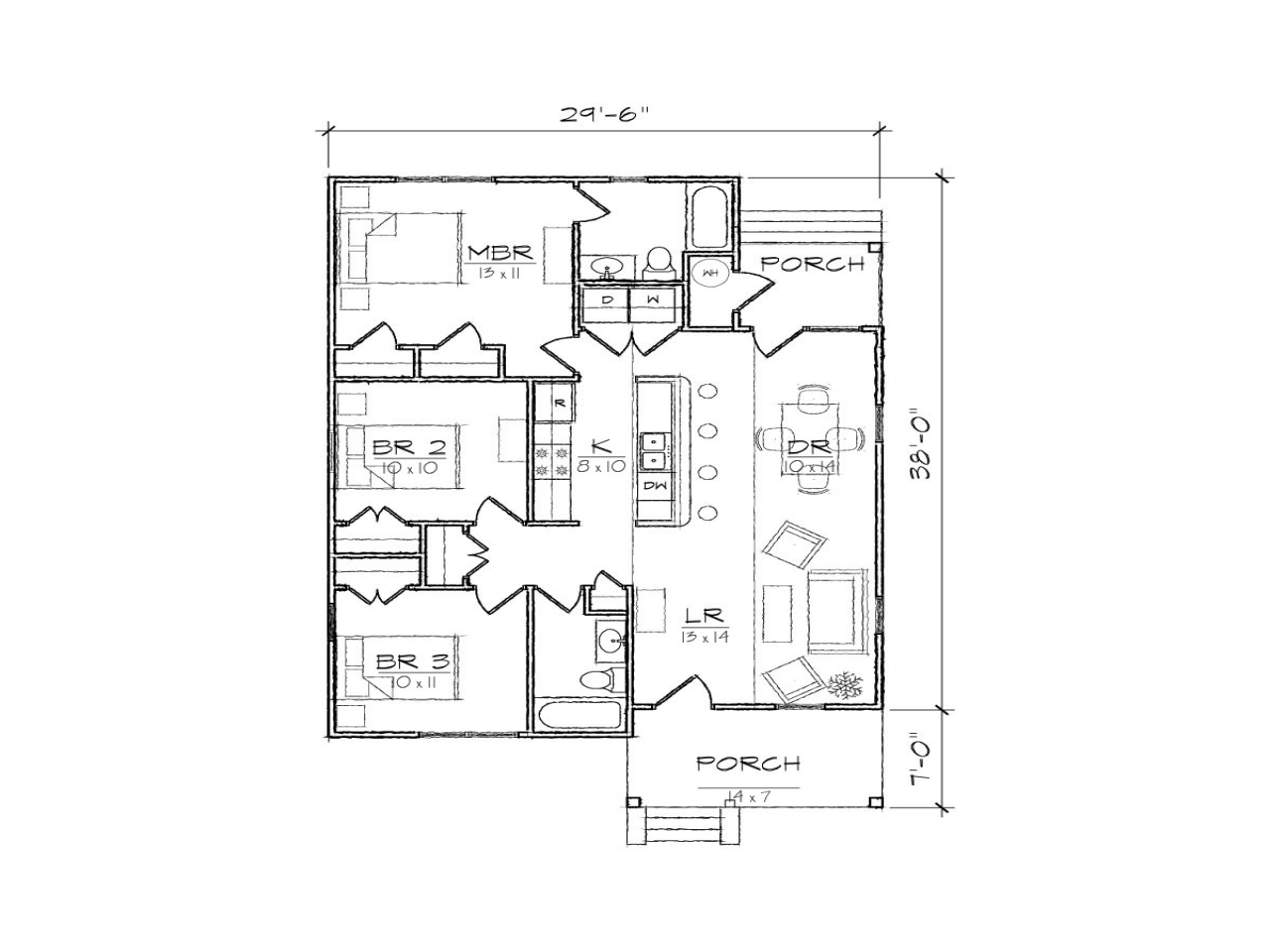 Small bungalow house floor plans modern bungalow house for Floor plan bungalow house philippines