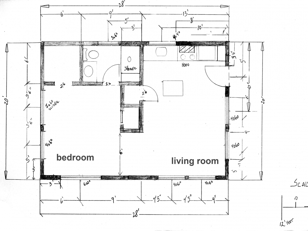 Small cabin floor plans small cabin plans under 600 sq for 600 square foot cabin plans