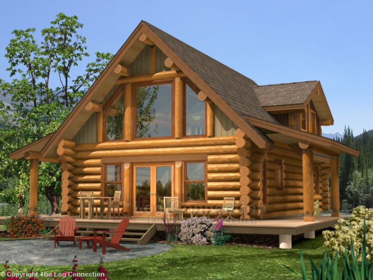 Small log home with loft log home plans and prices log for Log home garage kits