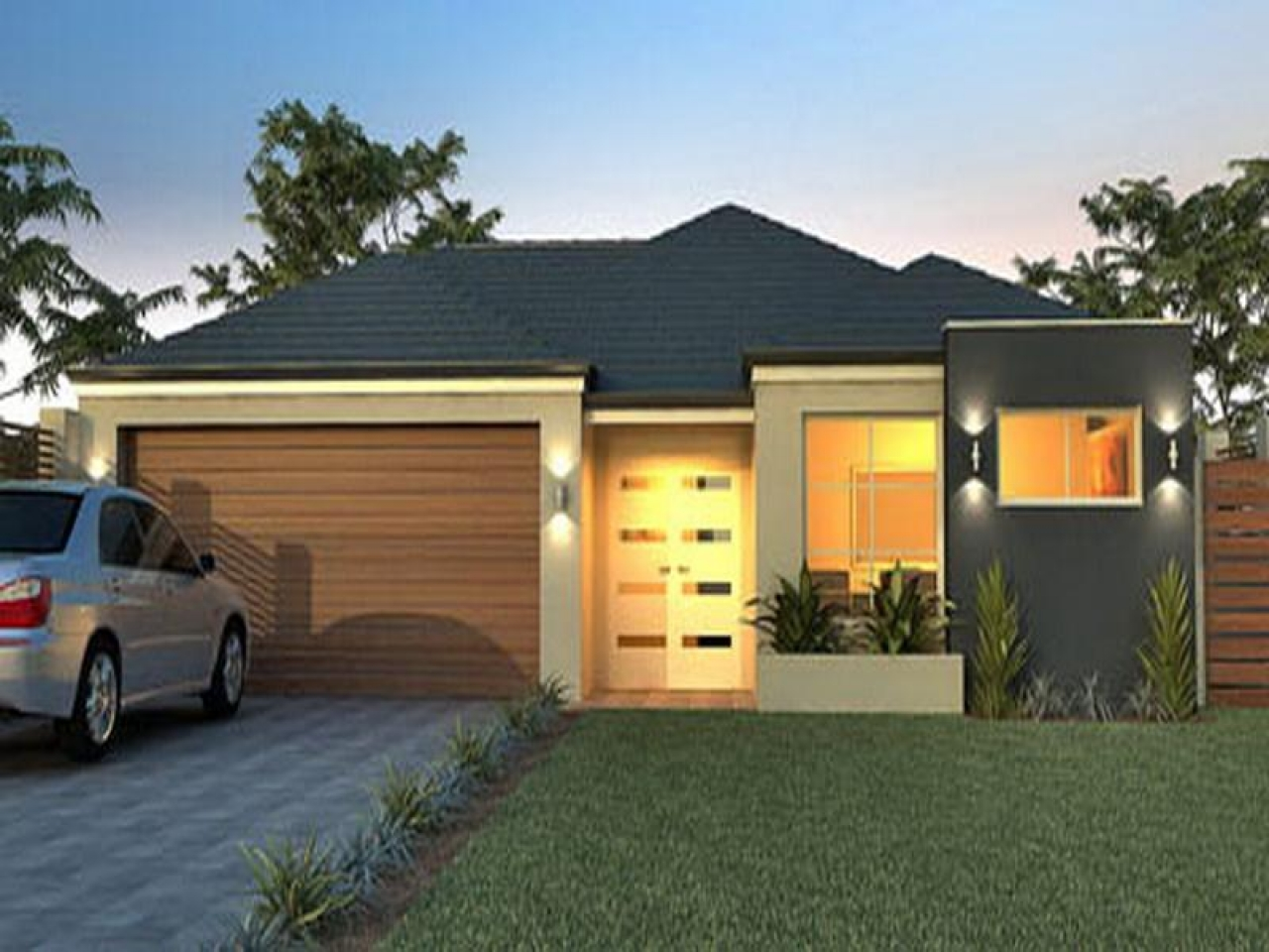 Very modern house plans small modern house plans single for Very modern houses