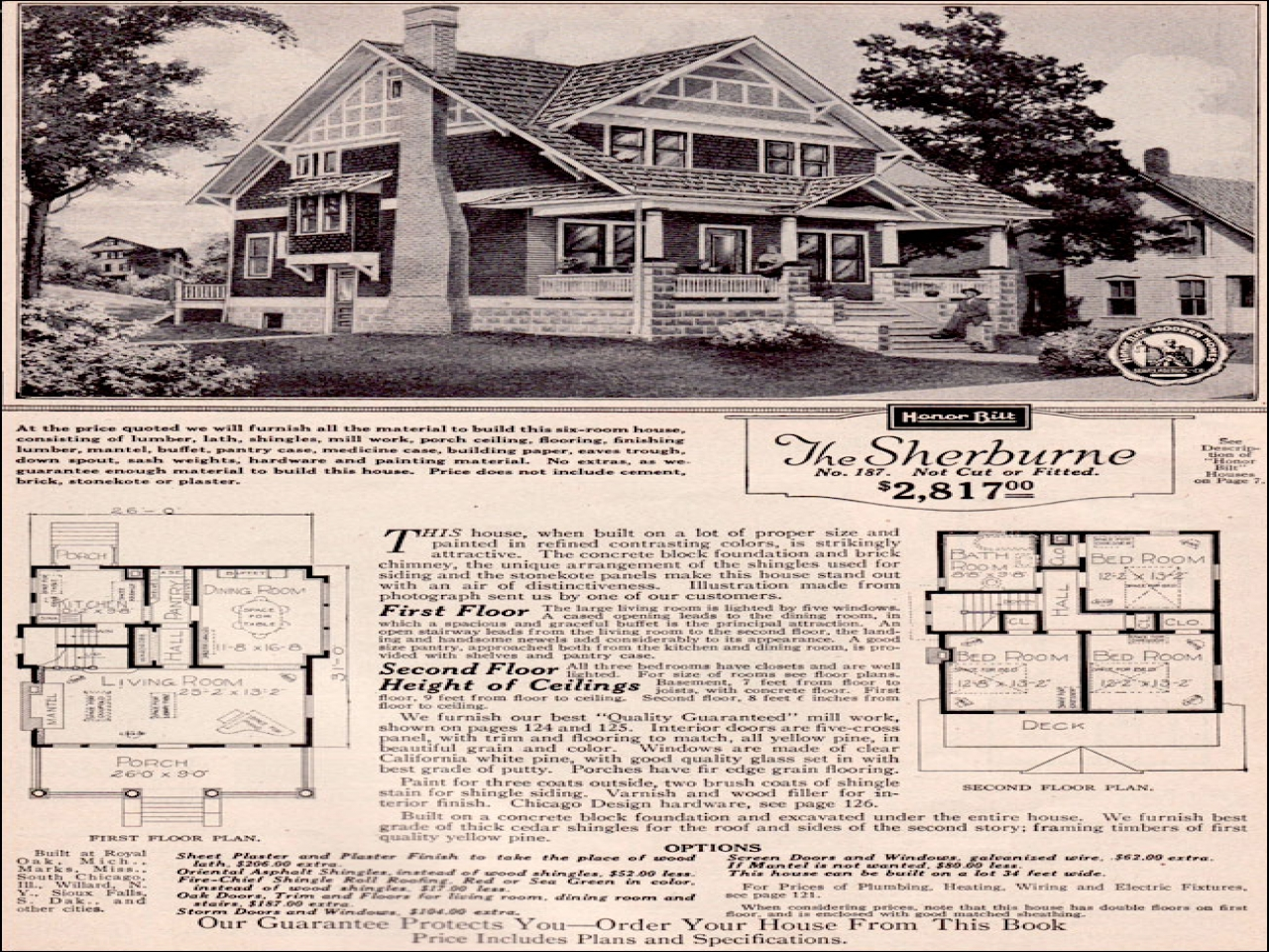 Vintage craftsman bungalow house plans sears craftsman for Sip builders texas
