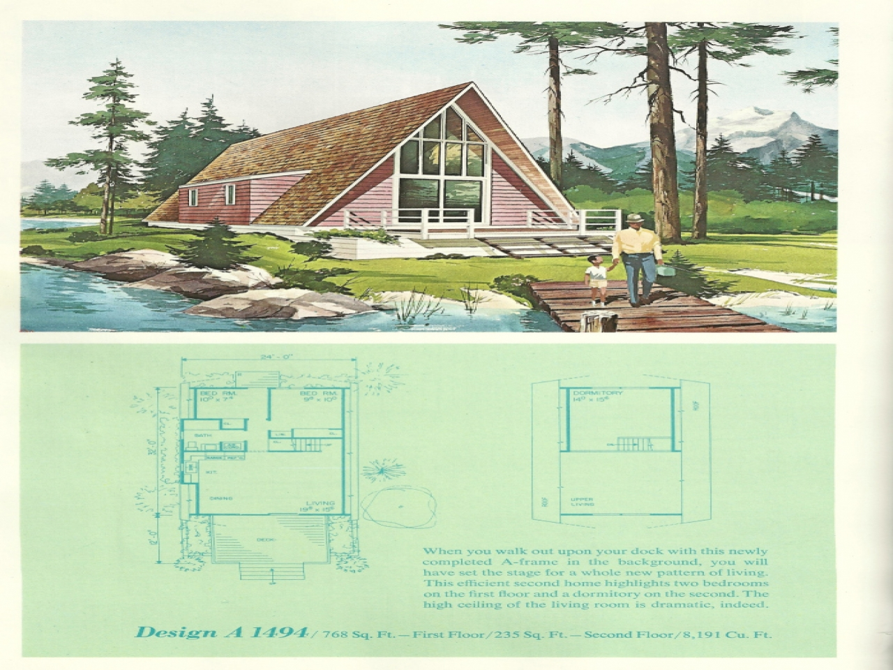 Vintage Vacation Home Plans Retro Home Plans Vacation