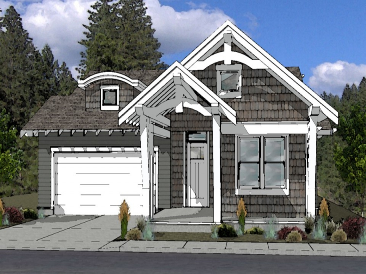 House Plan Small Home Design: Cottage Style House Plan Bend Oregon Small Stone Cottage