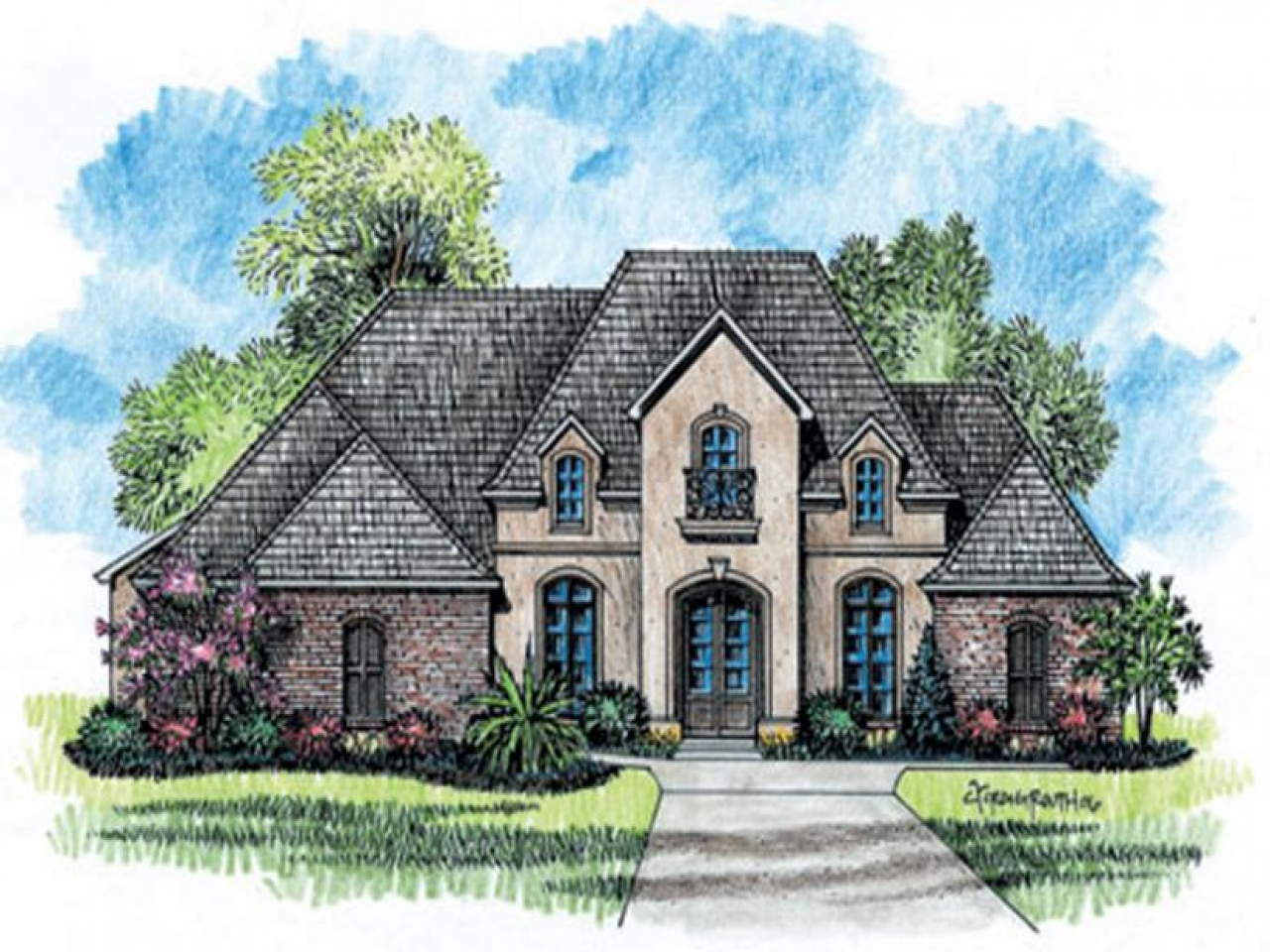 Country southern house plans french country house plans for One story french country house plans