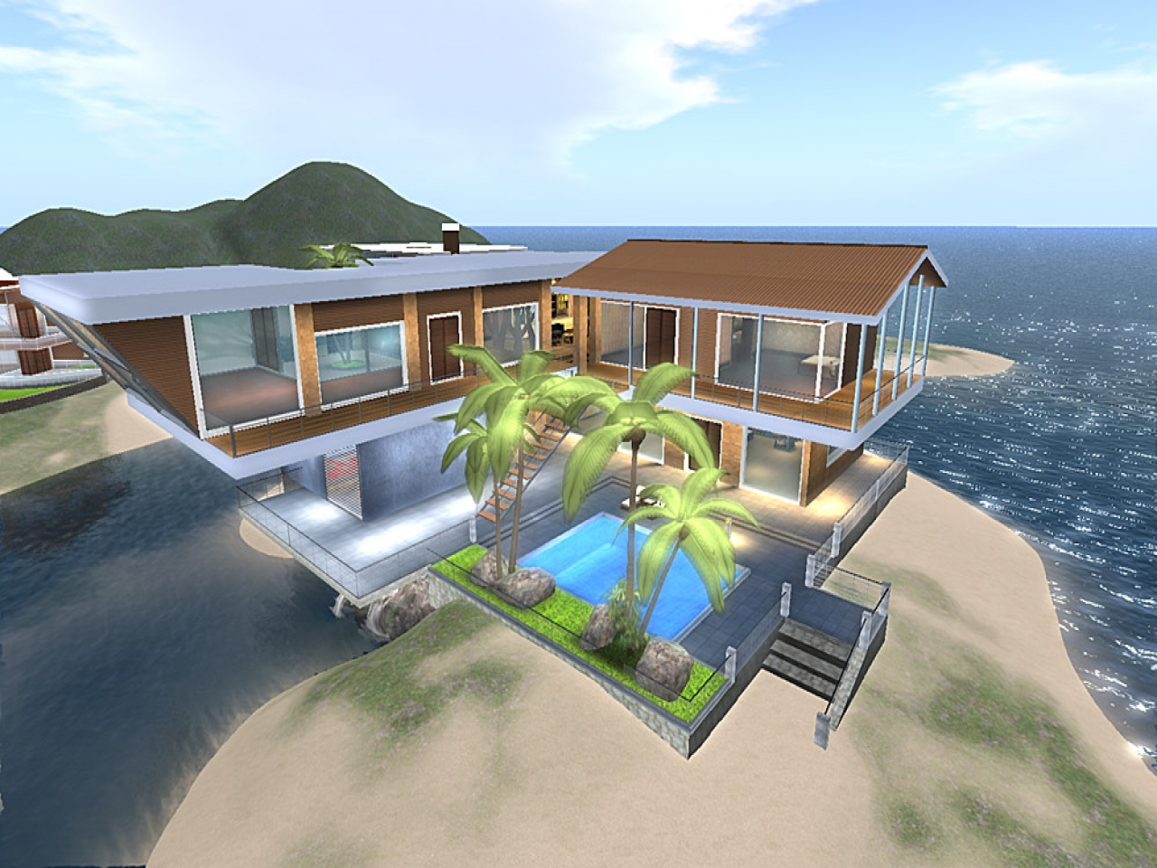 Dream house on beach dream house with pool dream beach for Dream beach house