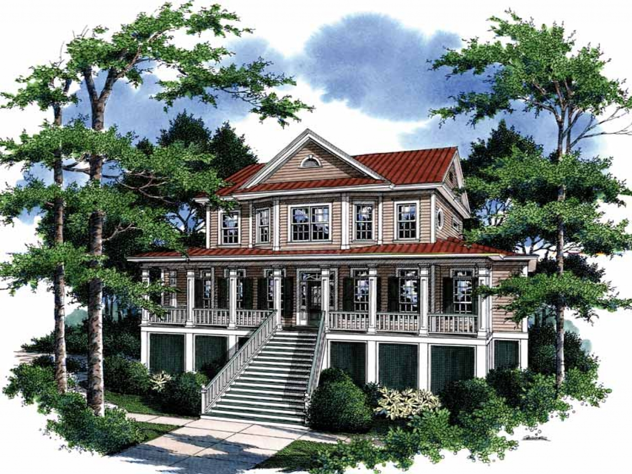 Farm Style House Plans Tidewater Style House Plans