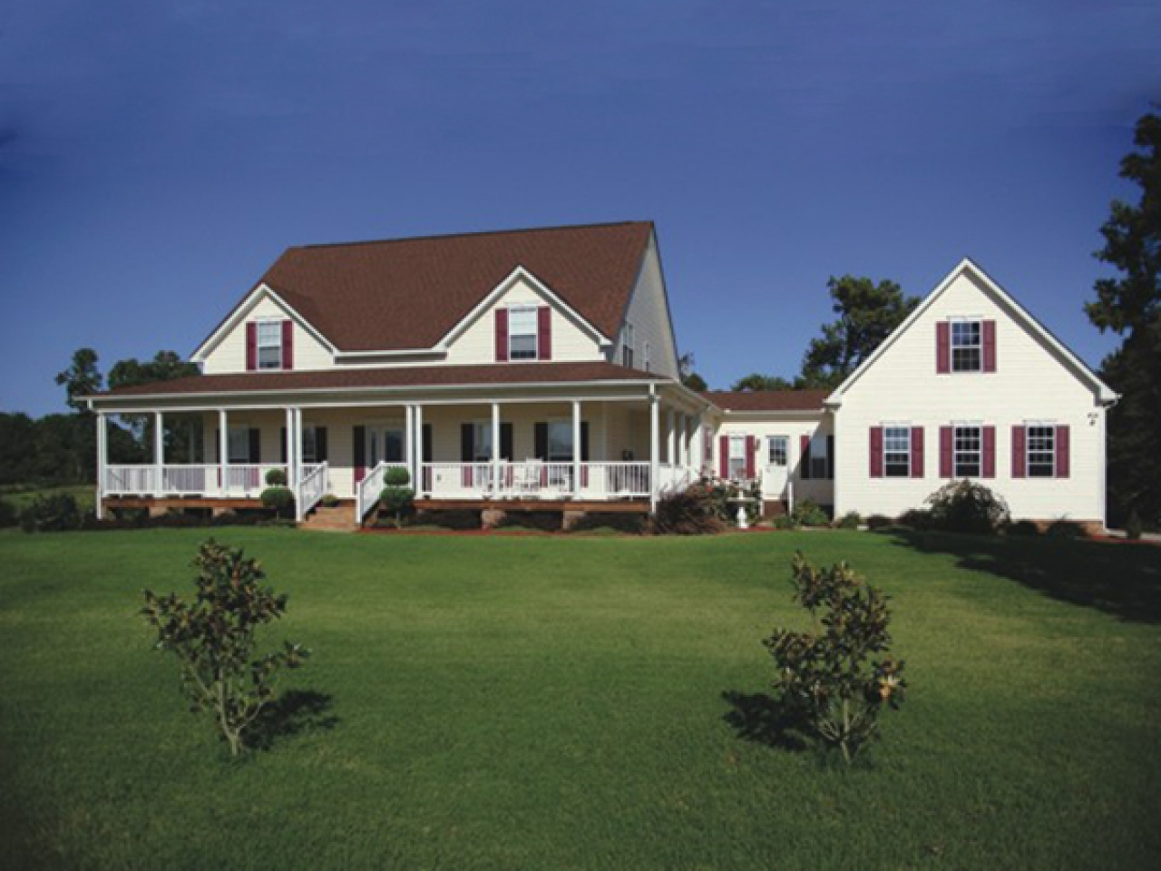 Farmhouse plans with detached garage farmhouse plans with for House plans with portico garage