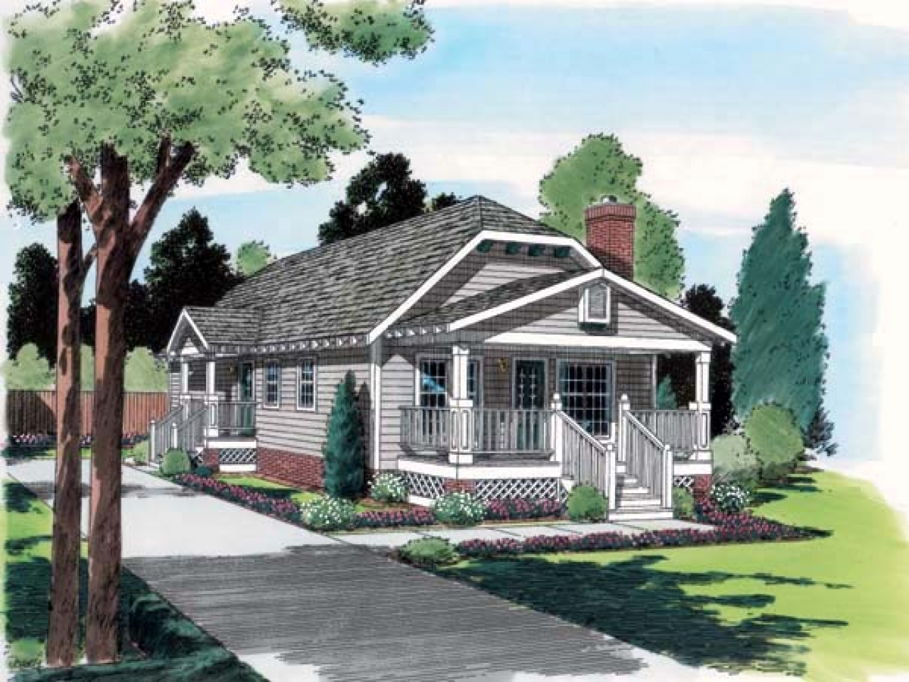 Hip roof ranch house plans farmers porch ranch house hip for Adding a farmers porch to a ranch