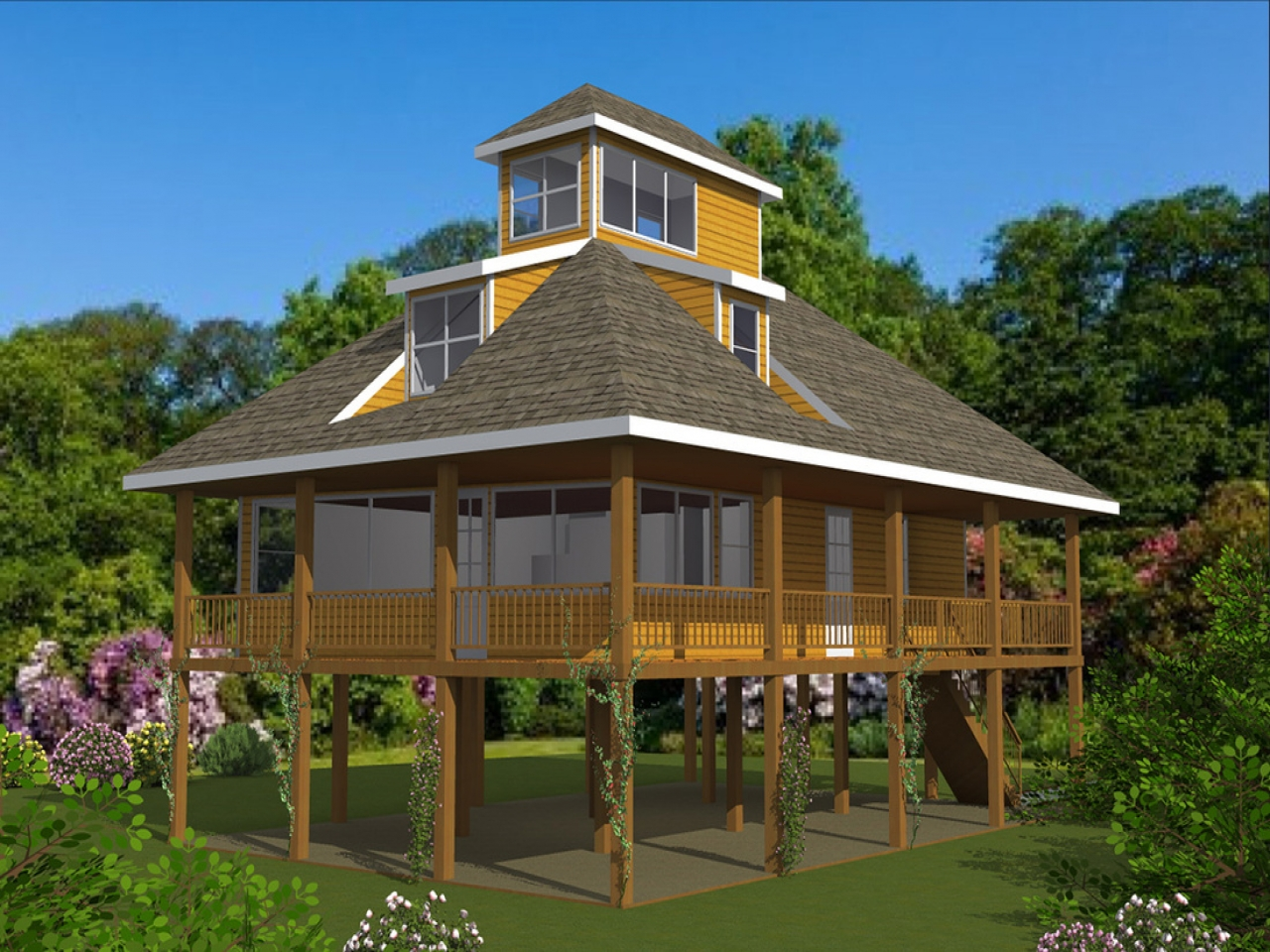 House Plans For Homes On Pilings Mediterranean House Plans