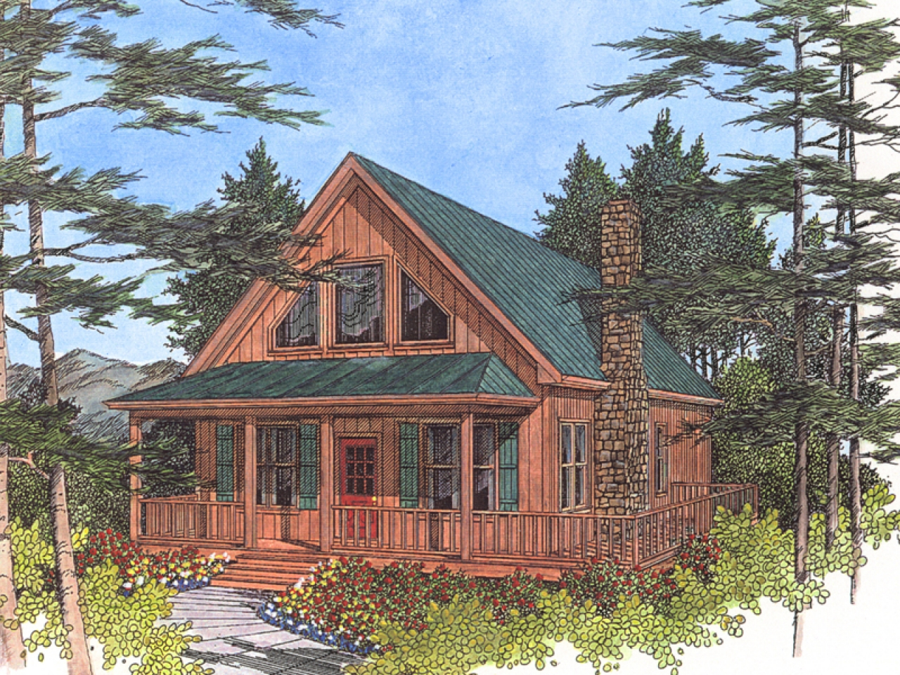 Small Cottage Designs: Inexpensive Small Cabin Plans Lake Cabin Cottage Plans