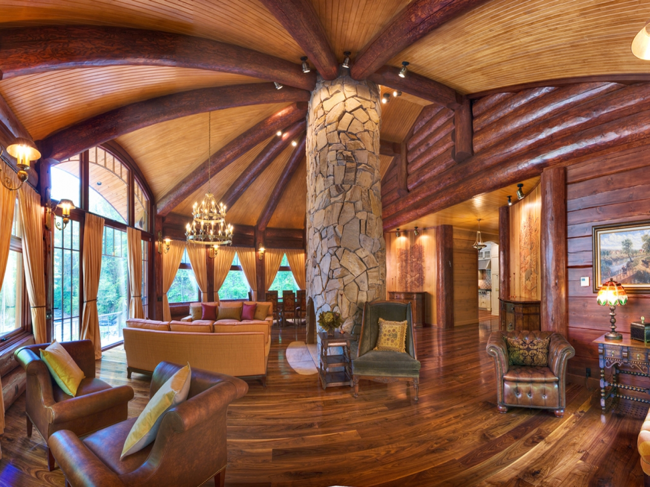 Luxury custom log homes luxury log cabin homes interior for Custom luxury log homes
