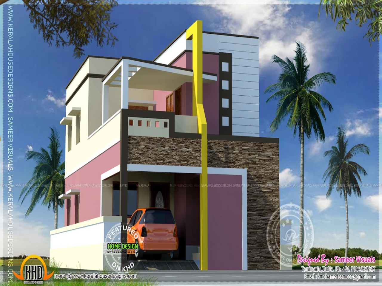 Modern Indian Home Design Small Modern House, Indian