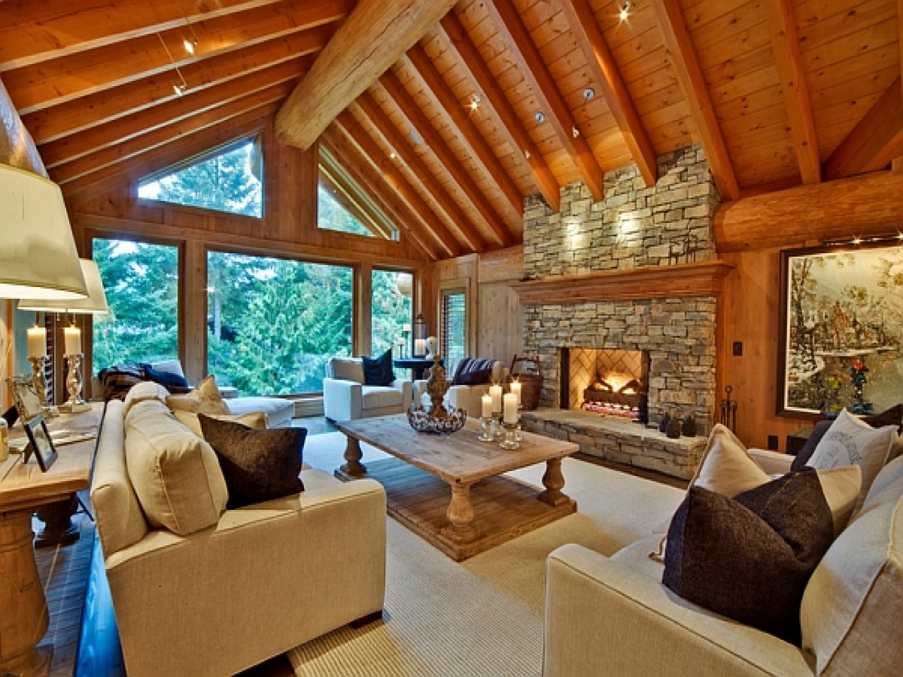 Modern Log Cabin Interior Design Luxury Log Cabin Interior