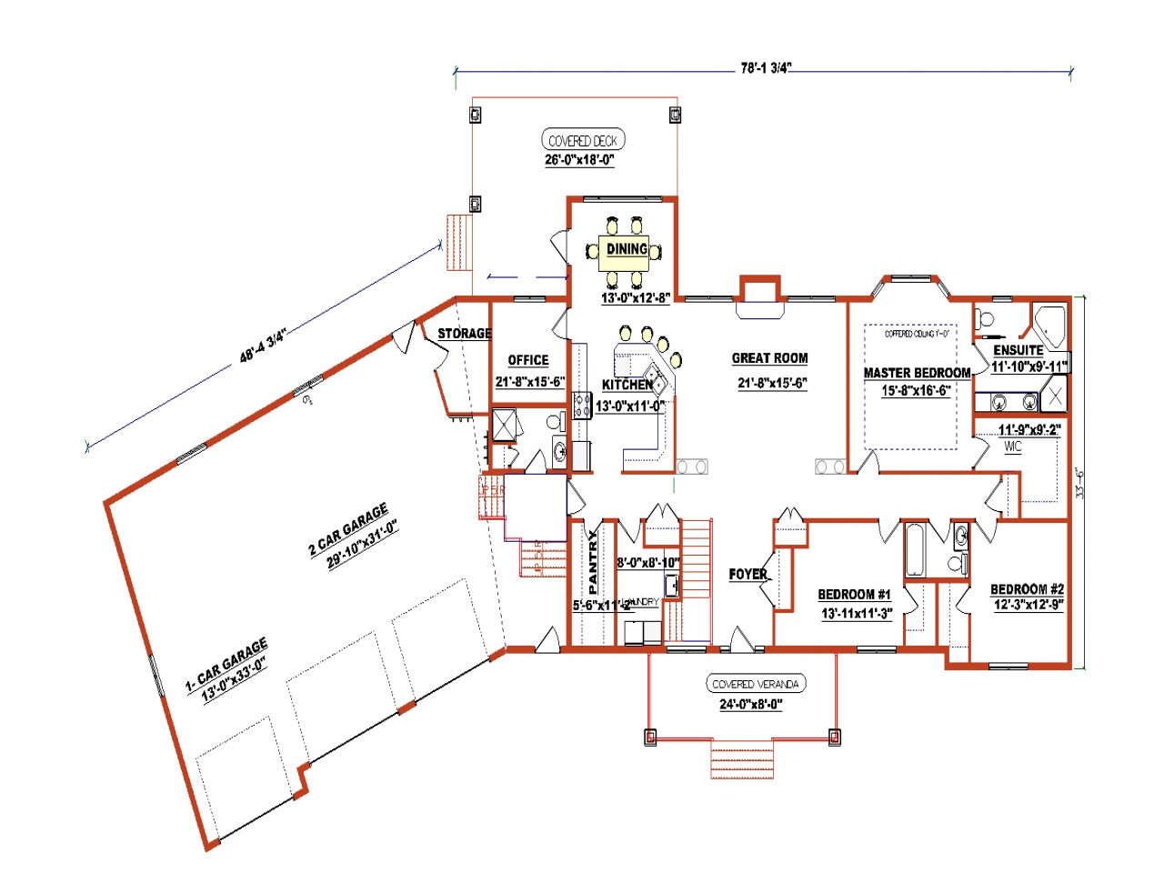 Open floor plans for ranch style homes ranch style floor for Edesign plans