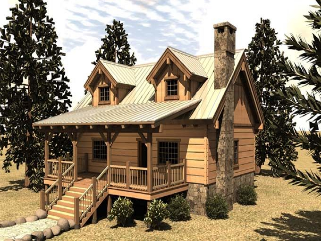 Small cabin floor plan covered porch inexpensive small for Small cabin plans with porch