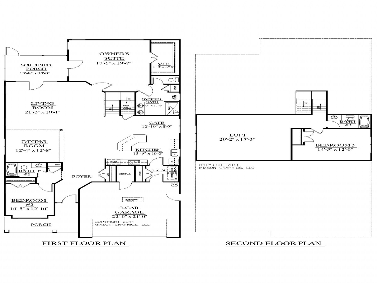 2 story house plans with bedrooms upstairs modern 2 story for 2 story house plans with loft
