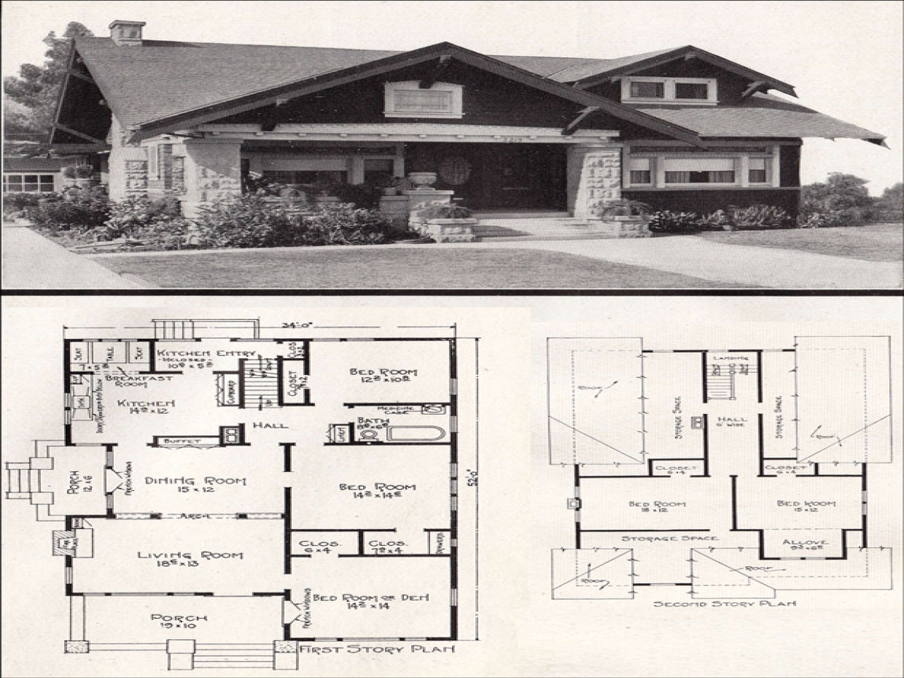 Chicago bungalow house california bungalow house floor for California craftsman house plans