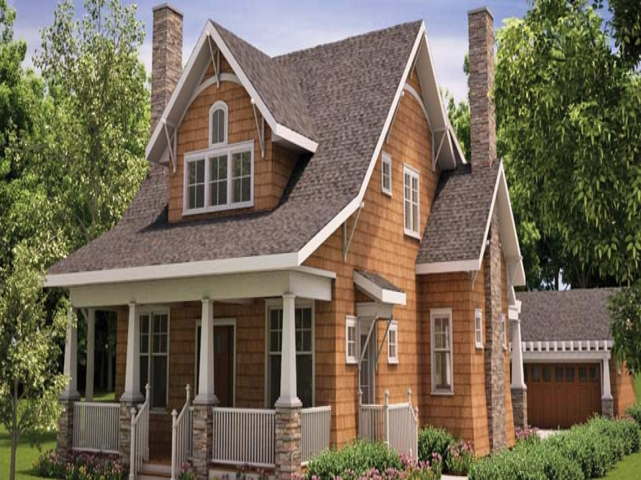 Craftsman house plans with detached garage best craftsman for Custom bungalow house plans