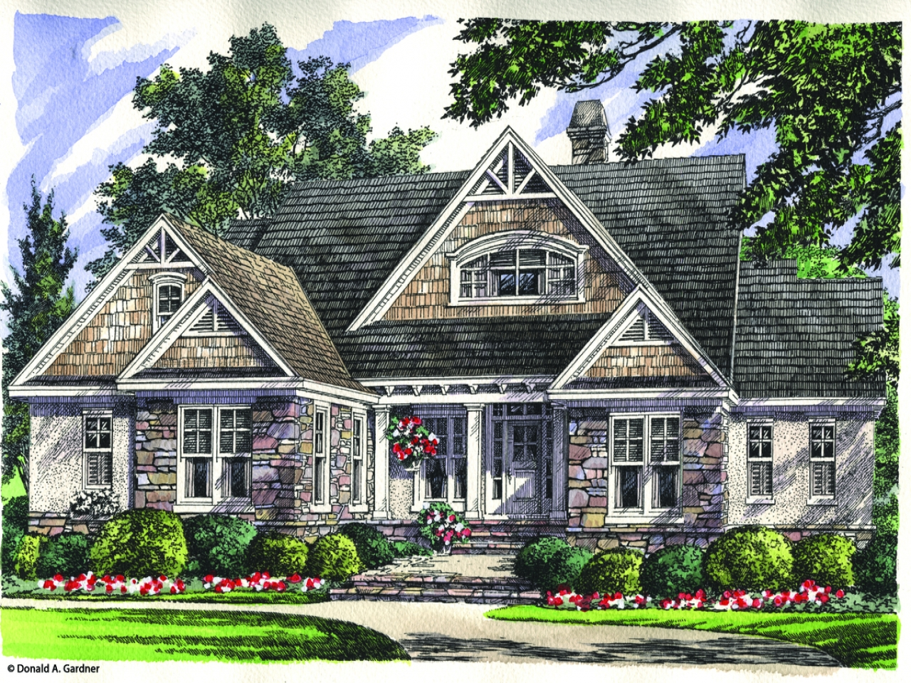 Don gardner house plans one story don gardner house plans for Craftsman house plans one story with basement