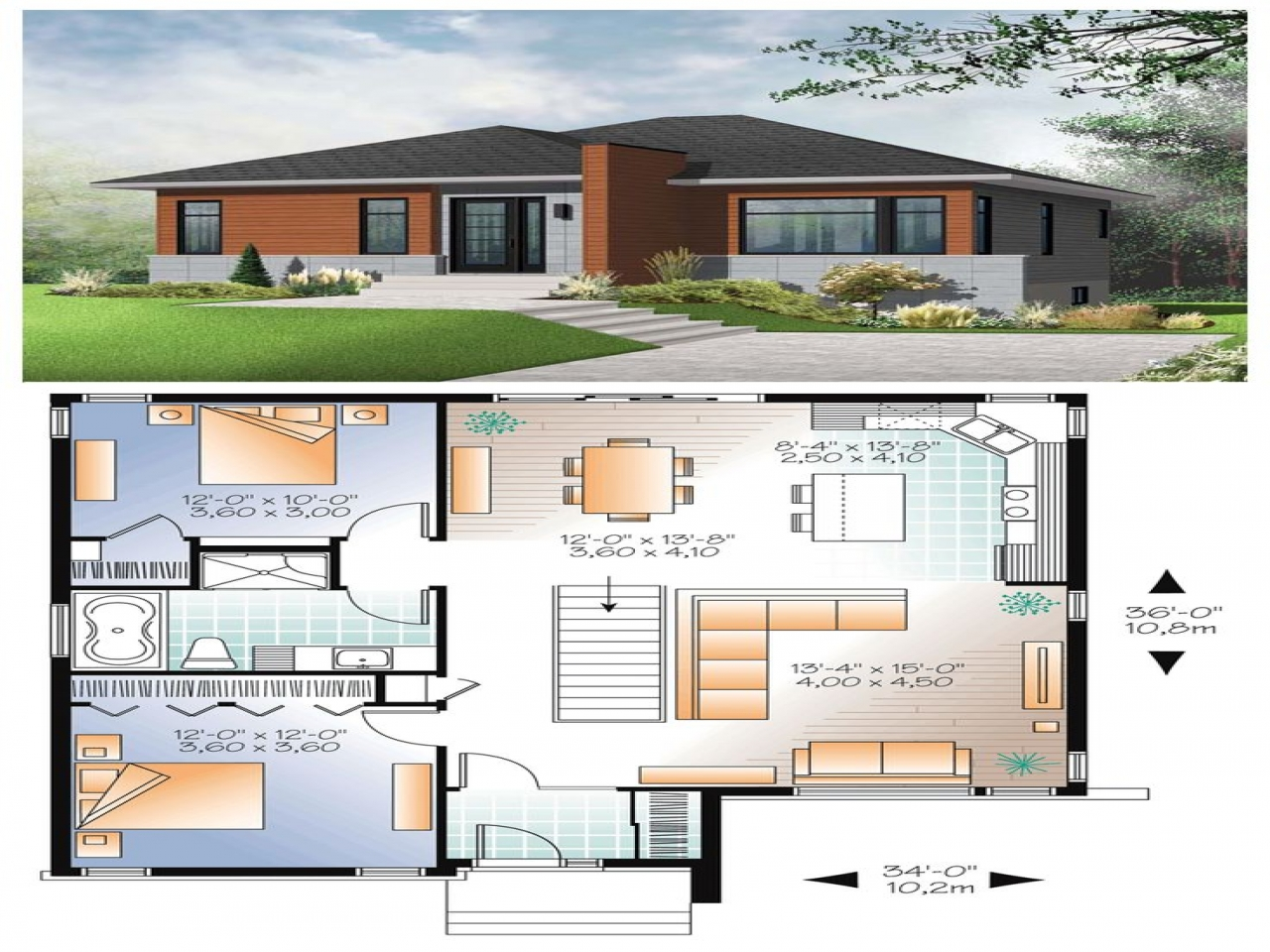 Modern small house plans modern contemporary house plans Simple modern house plans