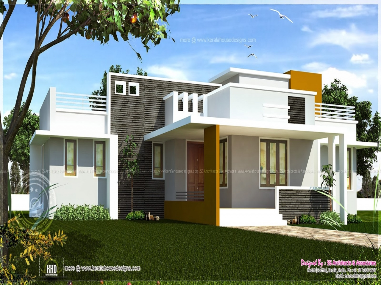 Single Floor House Plans with Open Design Contemporary ...