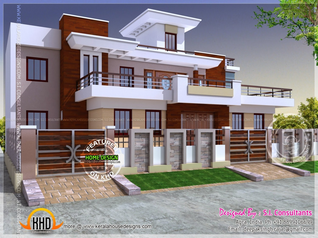 Small modern house design ideas indian modern house for Small indian house plans modern