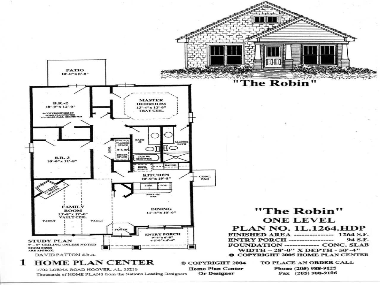 Small single level house plans one level living house for One level living floor plans