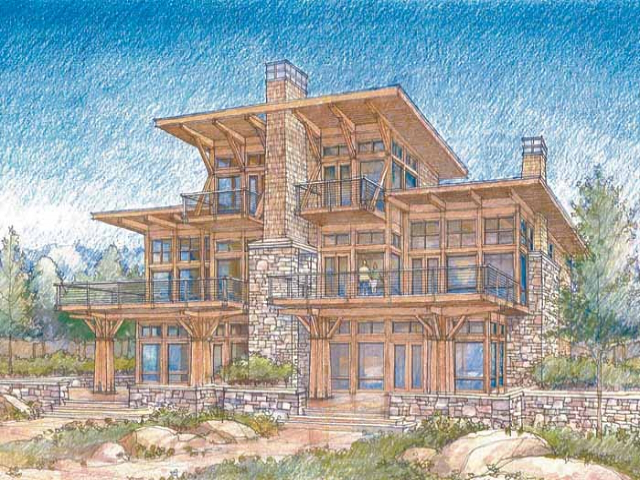 Waterfront luxury home plans modern waterfront house plans for Modern waterfront house plans