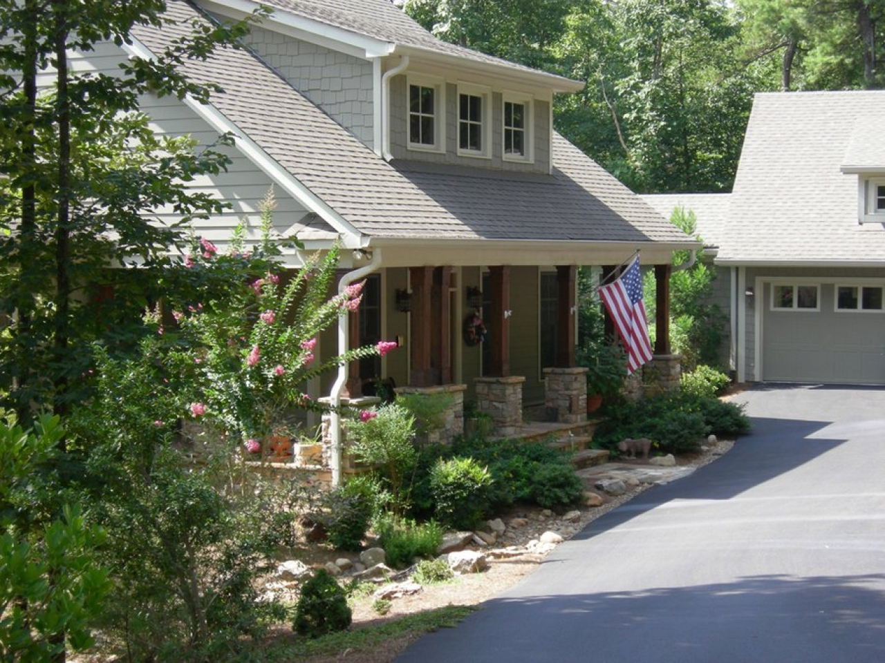 A Breezeway With Attached Garages Detached Garage With