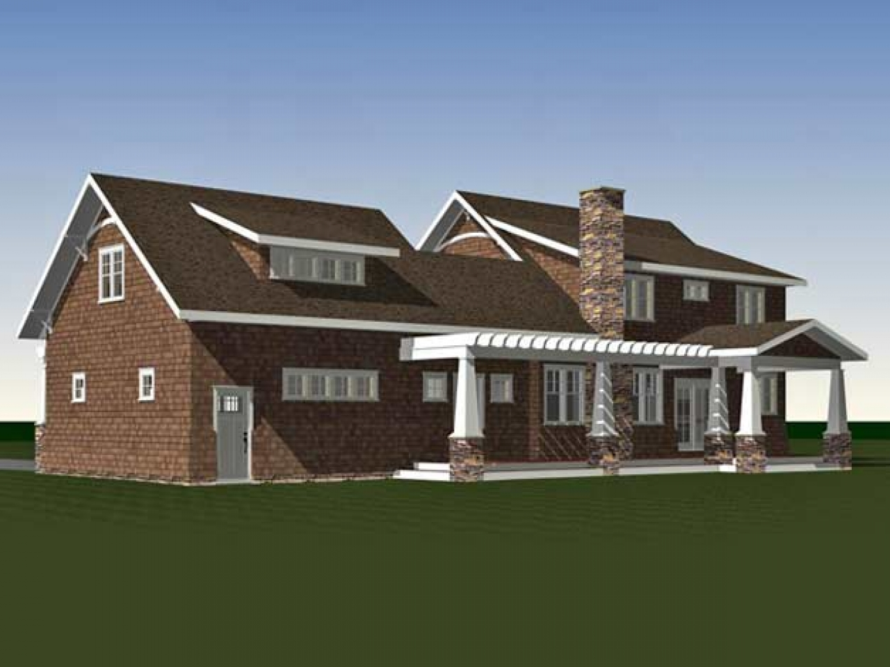 Architecture custom plan design icf the arts and crafts for Bungalow architects